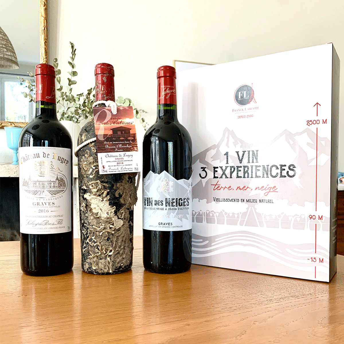 Coffret Terre-Mer-Neige vin rouge